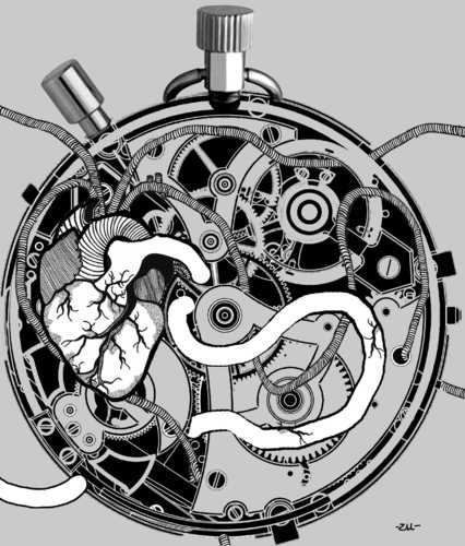 Clockwork By zu | Philosophy Cartoon | TOONPOOL