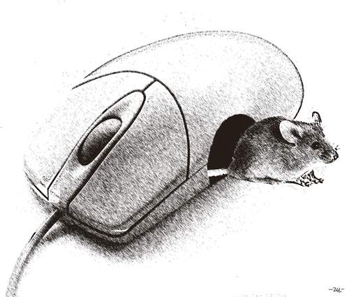 Cartoon: Mice (medium) by zu tagged mouse,tech,animal