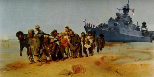 Ilya Repin, Bargehaulers on the Volga 187073 - PowerPoint PPT Presentation