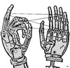 Cartoon: Cats cradle (small) by zu tagged robot,hand,cats,cradle