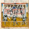 Cartoon: Tournament (small) by zu tagged tournament,volleyball,medieval,sport