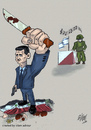 Cartoon: Bashar al-Assad criminal (small) by islamashour tagged bashar,al,assad,criminal,syria
