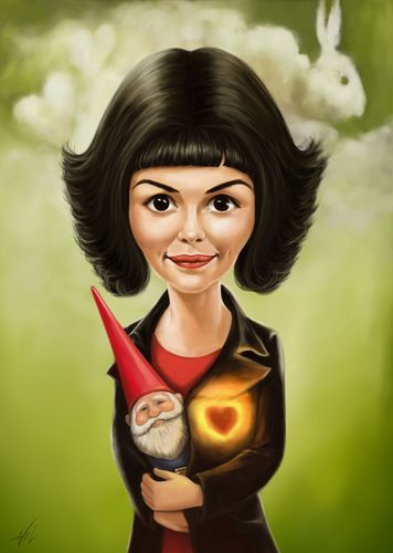 Cartoon: Amelie (medium) by Avel tagged amelie