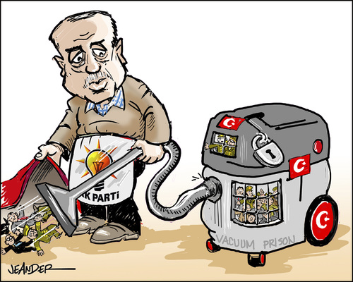 Erdogan hoovering..