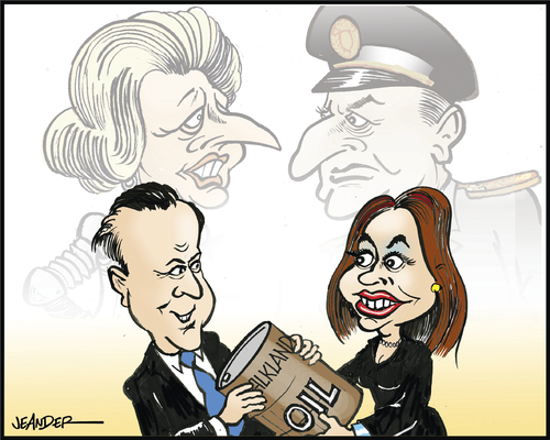 Cartoon Characters 30 Years Later : Falklands years later by jeander politics cartoon