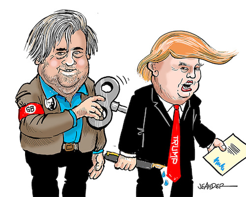 Cartoon: Steve Bannon (medium) by jeander tagged trump,bannon,donald,steve,presidenr,us,tfrump,bannon,donald,steve,presidenr,us