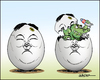 Cartoon: Egghead (small) by jeander tagged north,korea,kim,jong,un
