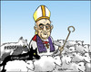 Cartoon: Pope Francis I Franciskus I (small) by jeander tagged pope,franciskus,pedofil,corruptions,scandal,katholic,church