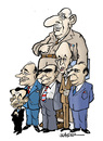 Cartoon: French presidents (small) by jeander tagged france,presidents,de,gaulle,nicolas,sarkozy,jacques,chirac,georges,pompidou,val