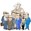 Cartoon: French presidents (small) by jeander tagged presidents,france,mitterand,hollande,de,gaulle,macron,estaing,zarkosy,chirac