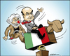 Cartoon: Italian bullriding (small) by jeander tagged italy,government,bersani,grillo