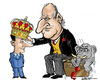 Cartoon: King Juan Carlos abdicates (small) by jeander tagged juan,carlos,felipe,spain,king