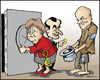 Cartoon: More money (small) by jeander tagged euro greece papandreou sarkosy merkel crises eu money
