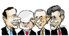 Cartoon: Republican candidates (small) by jeander tagged election,race,candidates,santorum,gingrich,paul,romney