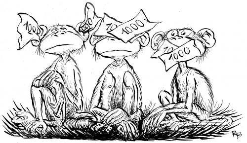 Pictures Of Monkeys Cartoon. Cartoon: monkeys 2 (medium) by