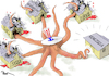 Cartoon: The Controversial Octopus (small) by Popa tagged us,venezuela,maduro,trump,democracy,conflict