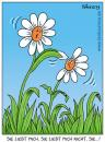 Cartoon: liebesspiel (small) by pentrick tagged blumen,flowers,liebe,love,natur,spiel,game,gerd,bökesch,cartoon,tank,comics,tankcomics