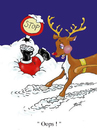 Cartoon: Sorry Santa ! (small) by andybennett tagged rudolph oops sorry santa christmas andy bennett