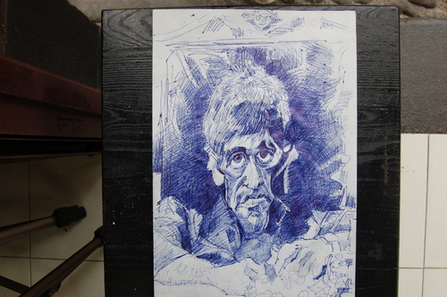 Cartoon: esketh pacino (medium) by GOYET tagged celebreties,caricatures,cartoon,scarface,alpacino