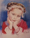 Cartoon: MY FERST PORTRAIT (small) by GOYET tagged portrait,child,suite,lovely,angels