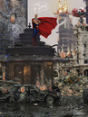 Cartoon: the last hero comen too later (small) by GOYET tagged hero,superman,caos,destroy,citty,fotoshop