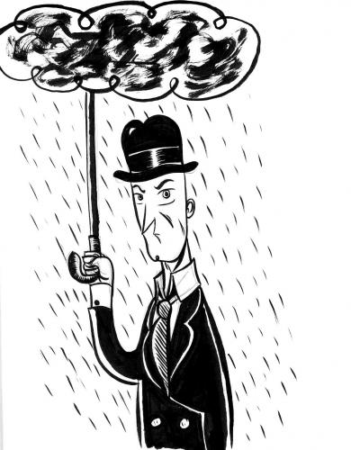 Cartoon: RAIN MAN (medium) by Jorge Fornes tagged sketchbook