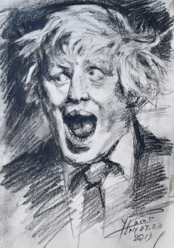 Cartoon: Brexit Gone Wild (medium) by yllifinearts tagged boris,johnson,brexit,unitet,kingdem,prime,minister