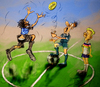 Cartoon: Coin Toss (small) by yllifinearts tagged 2012,euro,greece,vs,germany,soccer,football