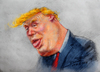 Cartoon: Donal Trump (small) by yllifinearts tagged trump,donalt