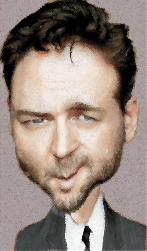 Cartoon: russell crowe (medium) by hakanipek tagged crowe,russell