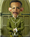 Cartoon: Barack Obama (small) by hakanipek tagged famous,people