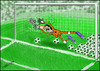 Cartoon: chicane (small) by hakanipek tagged chicane,sports,football,immorality