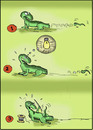 Cartoon: intelligent and creative (small) by hakanipek tagged lizard