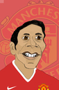 Cartoon: Rio Ferdinand (small) by Liam tagged football,england,sports,manu,manchester,united,premier,league