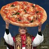 Cartoon: PIZZA-PAPST (small) by neufred tagged pizza,papst