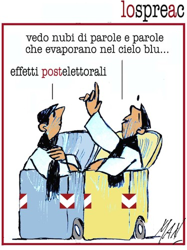 Cartoon: lo spreac (medium) by Enzo Maneglia Man tagged spreco,cassonettari,elezioni2013