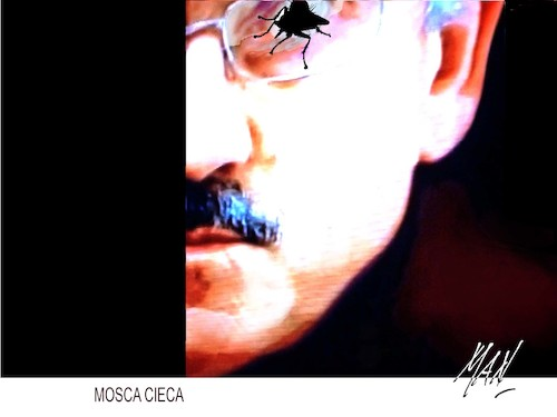 Cartoon: mosca cieca (medium) by Enzo Maneglia Man tagged foto,fotografia,espressionistica,surrealista,man,enzo,maneglia,fighillearte