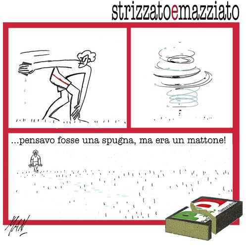 Cartoon: PD in mille pezzi (medium) by Enzo Maneglia Man tagged pd,millepezzi,aprile,2013