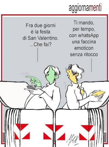 Cartoon: San Valentino 2018 (medium) by Enzo Maneglia Man tagged vignetta,umorismo,sanvalentino,maneglia,man,fignhillearte
