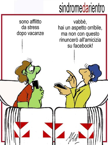 Cartoon: sindrome di fine vacanze (medium) by Enzo Maneglia Man tagged cassonettari,man,maneglia,fighillearte