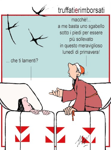 Cartoon: truffati e rimboorsati (medium) by Enzo Maneglia Man tagged vignette,umorismo,grafico,satira,man,maneglia,fighillearte