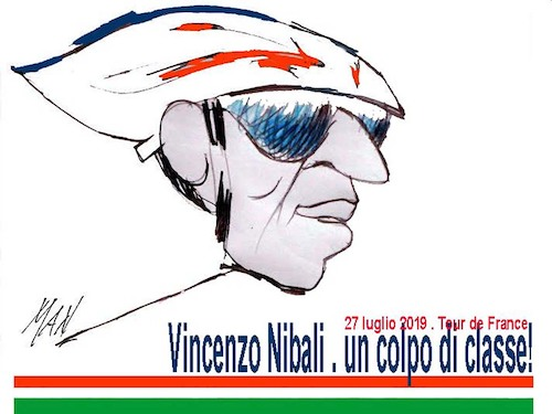 Cartoon: Vincenzo Nibali (medium) by Enzo Maneglia Man tagged caricatura,vincenzo,nibali,sport,ciclismo,tour,de,france,2019,grafica,di,man,enzo,maneglia
