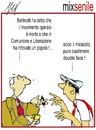 Cartoon: mix senile (small) by Enzo Maneglia Man tagged cassonettari,man,maneglia,fighillearte