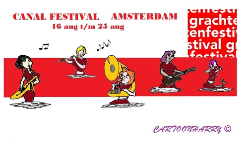 Cartoon: Canal Festival (medium) by cartoonharry tagged toonpool,festival,canal,2013,amsterdam,holland