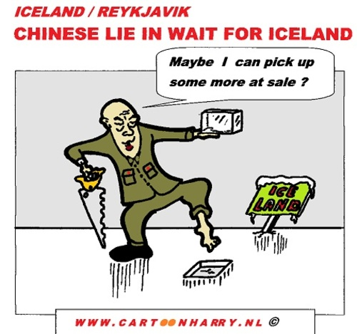 Cartoon: Chinese Want Iceland (medium) by cartoonharry tagged iceland,piece,reykjavik,cartoon,cartoonharry,cartoonist,dutch,china,toonpool