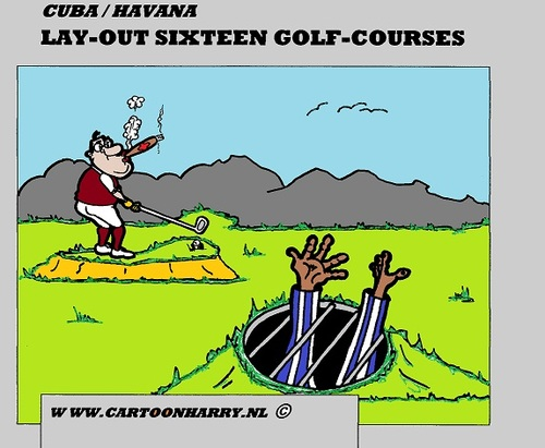 golf club cartoon. Cartoon: Cuba Golf Courses