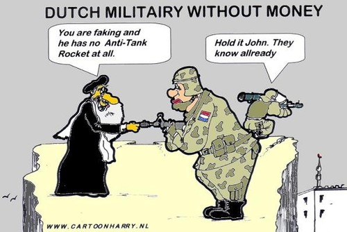 Cartoon: Dutch Military Without Money (medium) by cartoonharry tagged war,cartoonharry,afghanistan,dutch,military