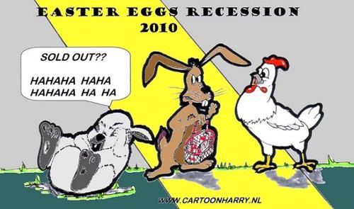Cartoon: Easter Recession (medium) by cartoonharry tagged chicken,cartoonharry,recesssion,easter