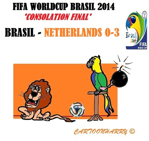 Cartoon: FIFA Worldcup Brasil 2014 (medium) by cartoonharry tagged fifa,worldcup,soccer,2014,third,brasil,netherlands