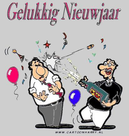 Cartoon: Gelukkig Nieuwjaar (medium) by cartoonharry tagged nieuwjaarswens,cartoonharry,cartoon,knalkurk